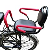 Bicycle Child Seats, Child Bike Seat Back with Removable Fence Armrest and Pedal Children Pillow Baby Safe Thickening Widening Seats for 1-6 Years Old Baby