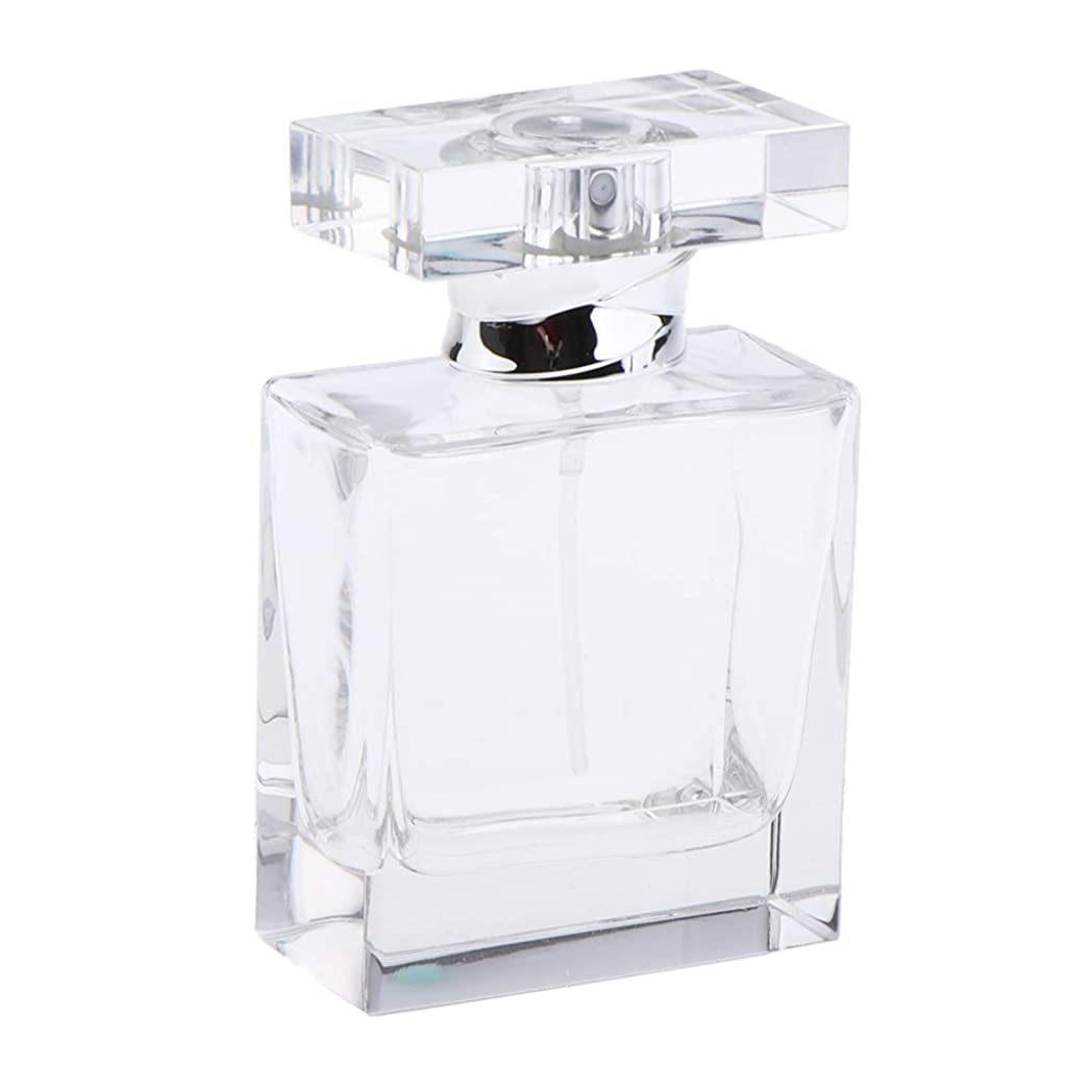 尊厳印をつける参照するB Blesiya 香水ボトル クリア クリスタル スクエア ガラスボトル