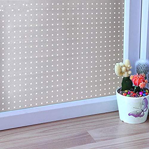 LMKJ Película de Vidrio Esmerilado en Ventanas Color unión electrostática Opaca autoadhesiva privacidad PVC Pegatina decoración del hogar película A56 60x200cm