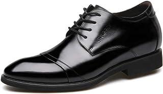[Aisxle] ビジネスシューズ 革靴 メンズ 靴 レースアップ 6cm UP シークレットブーツ 通気性 柔らかい
