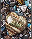 300 Piece Jigsaw Puzzle for Adults and Kids-Cardboard Puzzle Heart-Shaped Agate Pattern Family Interactive Games, Great Holiday Leisure 52x38cm