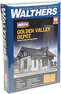 Walthers, Inc. Golden Valley Depot Kit, 6-1/2 X 3-3/8 X 4