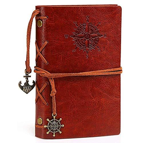 Cuaderno Vintage Marrón Álbum Diario Libro Cuero Cuaderno Pirata Cuaderno Colgantes Diario De Cuero Adultos Cuaderno Cuaderno Páginas En Blanco Recargable Cuaderno Viaje Rellenable Cuaderno Antiguo