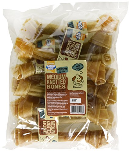 Good Boy Rawhide Knotted Bones Dog Treats (Pack of 10)