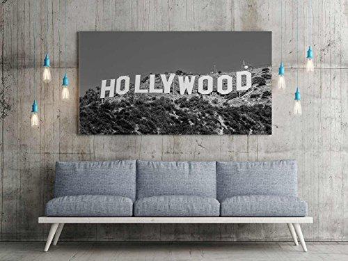 Cuadro PVC Impresión Digital Hollywood Blanco y Negro 100 x 100 cm   Disponible en Varias Medidas   Cabecero Ligero, Resistente y Económico