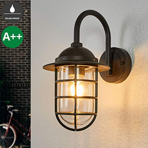 HJZY Vintage Industrial Wall Sconce Edison Wall Lamp Adjustable E27 Socket Rustic Wire Metal Cage Wall Light Retro Sconces Indoor Home Vintage Lighting Fixture HJZYBD