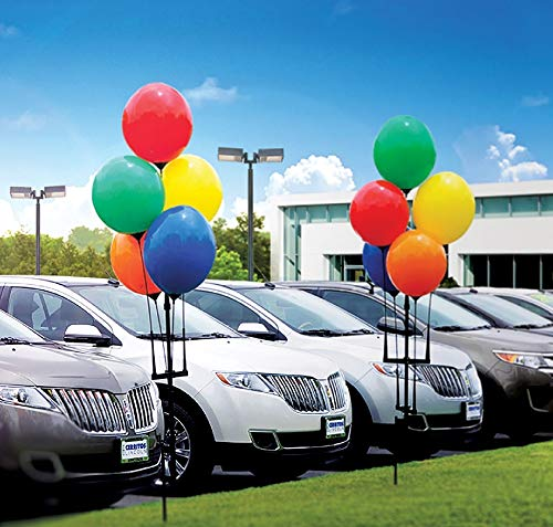 Permanent Outdoor Reusable Vinyl Balloons, 5 Balloon Cluster Kit with Ground Spike (1 kit with 5 Balloons)