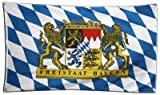 Flaggenfritze Fahne/Flagge Deutschland Bayern Freistaat - 150 x 250 cm + gratis Sticker, XXL-Fahne