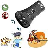 LIOYER Anti-aboiements ultrasonique Handheld Dog Bark Stopper Dispositif de Dressage de Chien ¨¤ ultrasons ¨¤ Double Canal, Mise ¨¤ Niveau 2020 3 en 1 Anti Bark/Outil de Dressage/Lampe de Poche LED