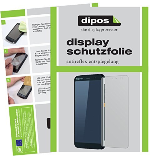 dipos I 6X Schutzfolie matt kompatibel mit RugGear RG850 Folie Bildschirmschutzfolie