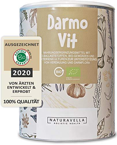 DarmoVit® - hochwirksame Darmsanierung & sanfte Darmreinigung I Bio Darm-Kur mit Darmbakterien, Flohsamen & Ballaststoffe für deine Darmflora I Premium-Qualität 250g - Jetzt erleben!