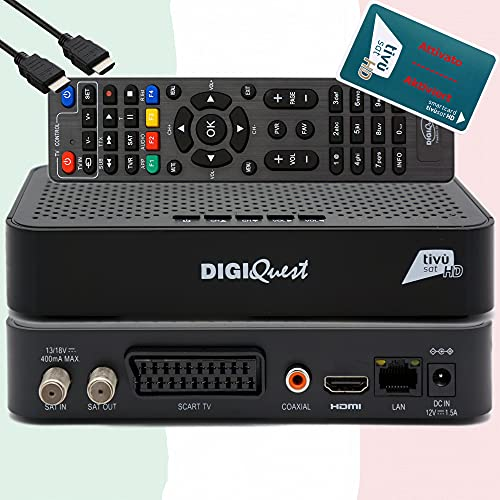 TiVuSat Karte HD aktiviert + DIGIQuest...