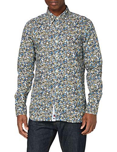 Tommy Hilfiger Herren Slim Textured Floral Camo Shirt Hemd, Country Ivory/Multi, M