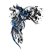 Djlinjio 13,2Cm X 17,6Cm Wolf Skin Decal Pvc Motorcycle Sticker