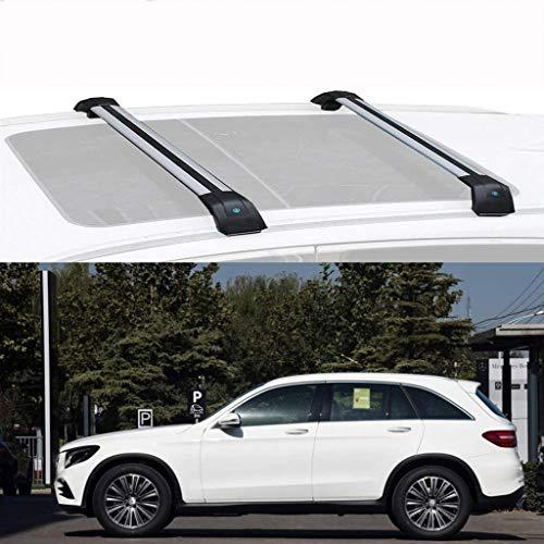 2pack Universal Aluminio Baca Barras de Techo, para Mercedes B ENZ GLC 2016-2020 Portaequipajes Coche Barra Transversal de Equipaje de Carga Baca Aguanta hasta 100 Kg