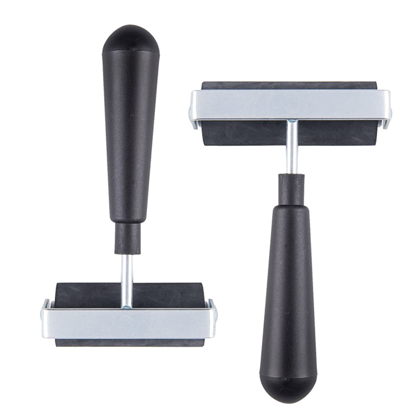 Fasmov 4-inch & 3- inch Hard Rubber Brayer Rubber Roller for Printing, Scrapbooks, Wallpapers,Pack of 2