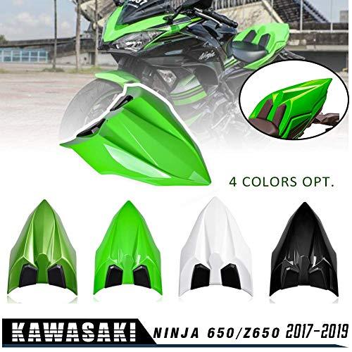 NINJA 650 Z650 17 18 19 20 Zubehör Heckklappenverkleidung Verkleidung ABS Kunststoff Grün Schwarz Weiß für Kawasaki NINJA650 Z 650 2017 2018 2019 2020 (Schwarz)