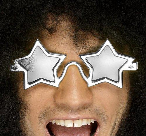 Smiffys - Sternbrille Brille Stern Sonnenbrille Hippie 70er Jahre Dance Supersta
