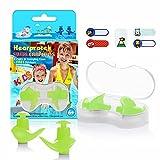 Hearprotek Swimming Ear Plugs, 2 Pairs Waterproof Reusable Silicone...