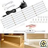 Ustellar Under Cabinet Lights Kit, 6M Dimmable Hand Wave Activated LED Strip Lighting