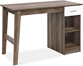 Artiss Home Office Computer Desk Scandinavian Wooden Study Work Gaming Desk with Drawer and Compartments (110 x 50 x 76.5cm)