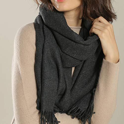 TIANPIN Unisex zachte sjaals Stole Wrap 100% pure wol sjaal sjaal kasjmier dikke effen kleur sjaal om warm herfst en winter te houden (200x70cm)