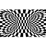 JDJFDKSFH Alfombra 3D Ilusión de estéreo en Blanco y Negro Visión en Blanco y Negro Alfombra Sala de Estar Dormitorio Tabla de café Sofá Estera de Piso ANTLINO Suave A-80 * 160cm
