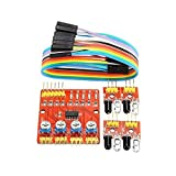 Working voltage: Dc 3.3v-5v working current: Try to choose more than 1a power supply Output interface: 6 wire interface (1234 to 4 signal output ends, + positive power, - for the negative power is ground) Output low level, no infrared light, the indi...