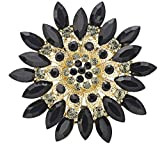 SaySure - Crystal Flower Brooch Pin Clothes Accessories Christmas -