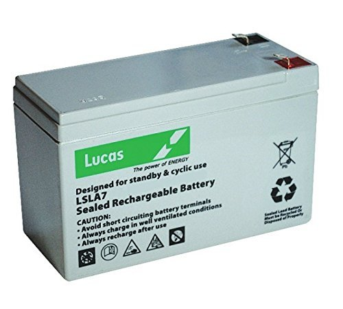Lucas VRLA/AGM Standby Mobility, Fire and Safety Battery 12V 1.2AH