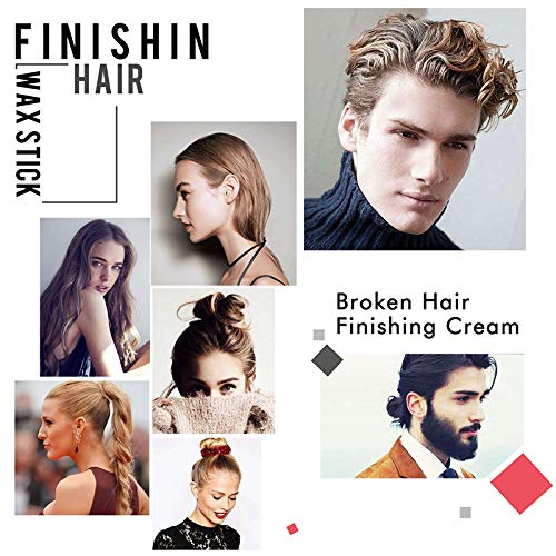 Hair Finishing Stick, Small Broken Hair Feel Finishing Cream Refreshing Shaping Gel Cream Hair Wax Stick Fixing Bangs Stereotypes Cream Fits All Men Women and Kids - 2 PCS