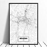 guatan Leinwand Bild,Bologna, Italien Stadtplan Drucken