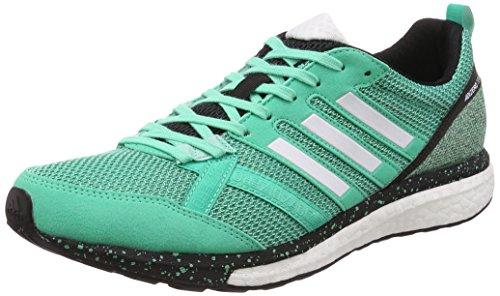 adidas Adizero Tempo 9, Zapatillas de Running Hombre, Verde (Bgreen/Ftwwht/Hiregr), 40 EU