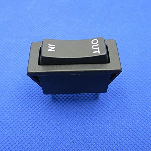 JSJJAYH Interruptor basculante 2 PCS Reinicio Bilateral Interruptor de Rocker 3 Pines Interruptor instantáneo Parada en la pulsación Media en Rebote automático 16A 250VAC Accesorios