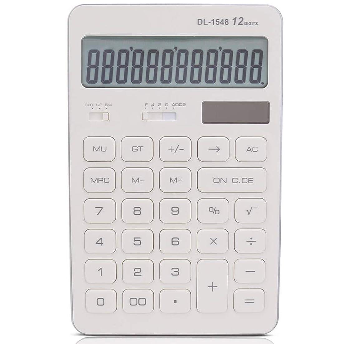 特権的無意識引退する基本電卓 太陽の電卓のビジネスオフィスかわいい電卓 オフィスデスクトップ電卓 (色 : 白)