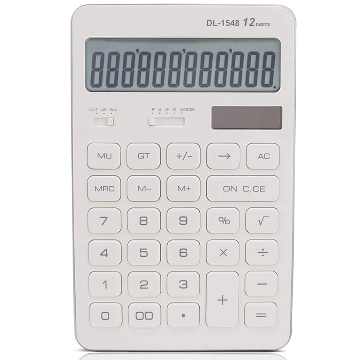 砂漠ジョージハンブリールービジネス電卓, 太陽の電卓のビジネスオフィスかわいい電卓 実務電卓 (色 : 白)