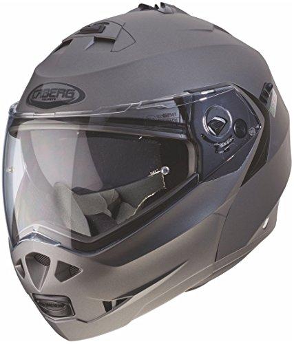 Caberg Klapp Helm Duke II 2 Motorrad Belüftet Sonnenblende Pinlock Visier Jet Brillenträger, 308650, Farbe Gunmetal, Größe L