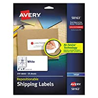 Avery Repositionable Labels with Sure Feed Technology ,LABEL,MLG,RPO,10UP,IJ,WHT