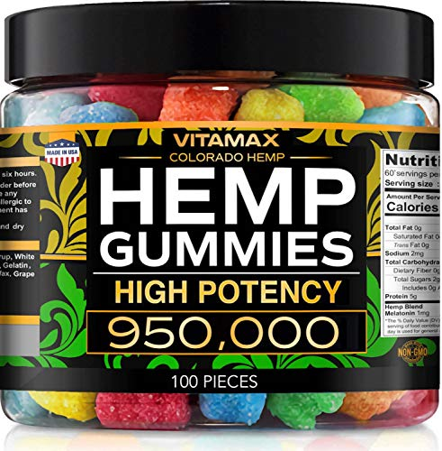 Gummies for Stress & Relaxation – 950000 - Great for Stress, Insomnia & Anxiety Management – Made in USA – Tasty & Relaxing Gummies – 100ct