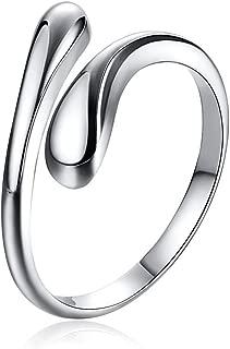 Best adjustable silver rings Reviews
