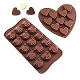Silikon Schokoladenform Schwein Emoji & Herz Pralinenform Eiswürfelform Silikonform Backform für Schokoladen, Gelee, Kuchen und Eiswürfel