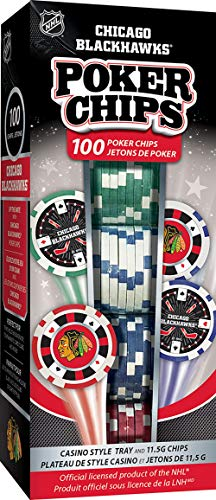 NHL Chicago Blackhawks NHL 100-Piece Poker ChipsNHL 100-Piece Poker Chips, Chicago Blackhawks, One Size