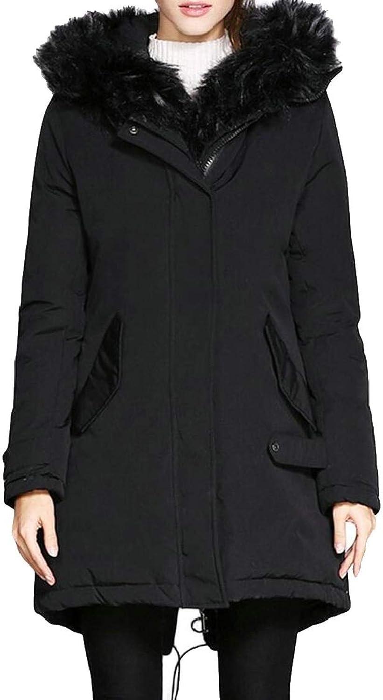 Desolateness Women Fashion Parka Outwear Warm Fleece Vintage Winter Coat Hood Jackets