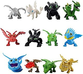 12Pcs/Lot Figures Night Fury Deadly Nadder Gronckle Barf Belch Terrible Terror Model Dolls New Must Haves 5 Year Old Boy Gifts The Favourite Comic Superhero Coloring Animators Collection