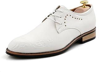 [Prelesty] メンズ ドレスシューズ レースアップ ビジネスシューズ 紳士靴 内羽根 軽量 結婚式 卒業式 通勤 ウイングチップ