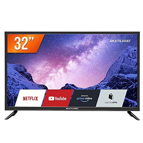 Monitor Tv 32 Polegadas HD Com Função Smart E Wi-Fi Integrado Multilaser - TL020