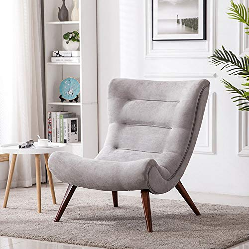 Wenzhihua Lounge Chair Lazy Sofa Chair Wood Lounge Chair W/Ottoman For Living Room,Bedroom,Club,Office Lounge Armchair Living Room Office Indoor (Color : Gray, Size : Free size)