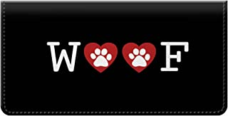 Snaptotes Dog Woof Paw Print Checkbook Cover