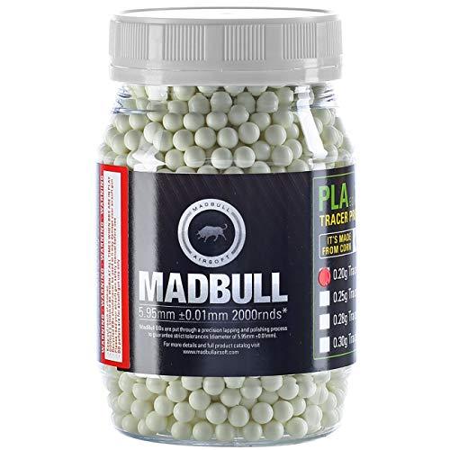 Madbull Tracer Precision Bio Softair Munition BBS 0,28g 2.000er Container grün Leuchtspurmunition