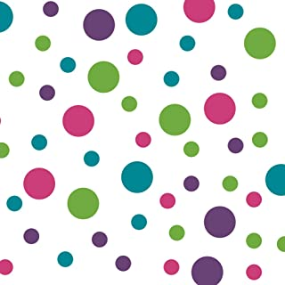 Purple/Turquoise/Lime Green/Hot Pink Vinyl Wall Stickers - 2 & 4 inch Circles (60 Decals)
